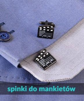 Spinki do mankietów - klasyczne lub zwariowane.
