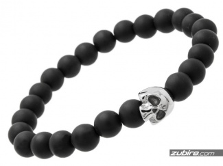 Beads for men matte black