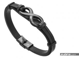 Black bracelet with infinity sign