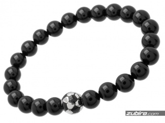 Black gift beads for footballer