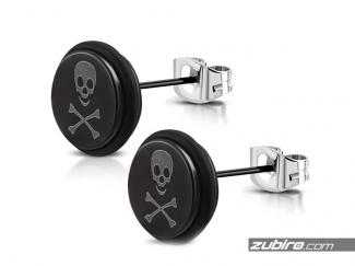 Black men's earrings with skulls