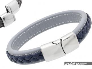 Blue and gray bracelets for men