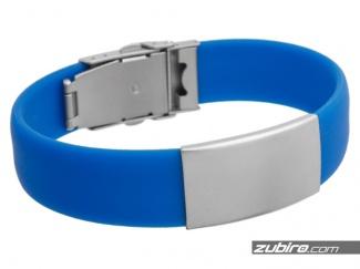 Blue bracelet under your individual engraver