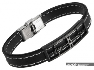 Bracelet with an ECG motif