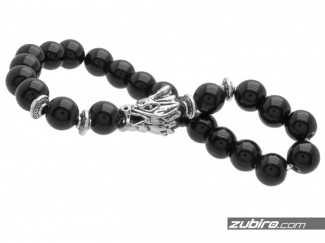 Bracelet with silver dragon beads