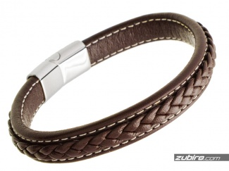 Brown men's bracelet with a Santa's gift