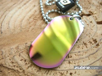 Colorful dog tag made of steel