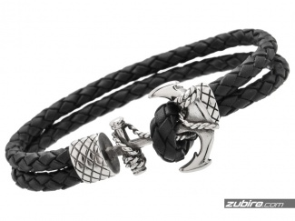 Leather bracelets with anchors