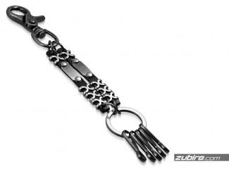 Metal keyring for several keys