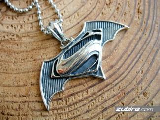 Supermen & Batman gift necklace for boy