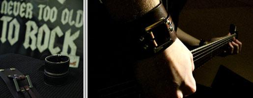 bransoletki rockowe skórzane dla mężczyzn