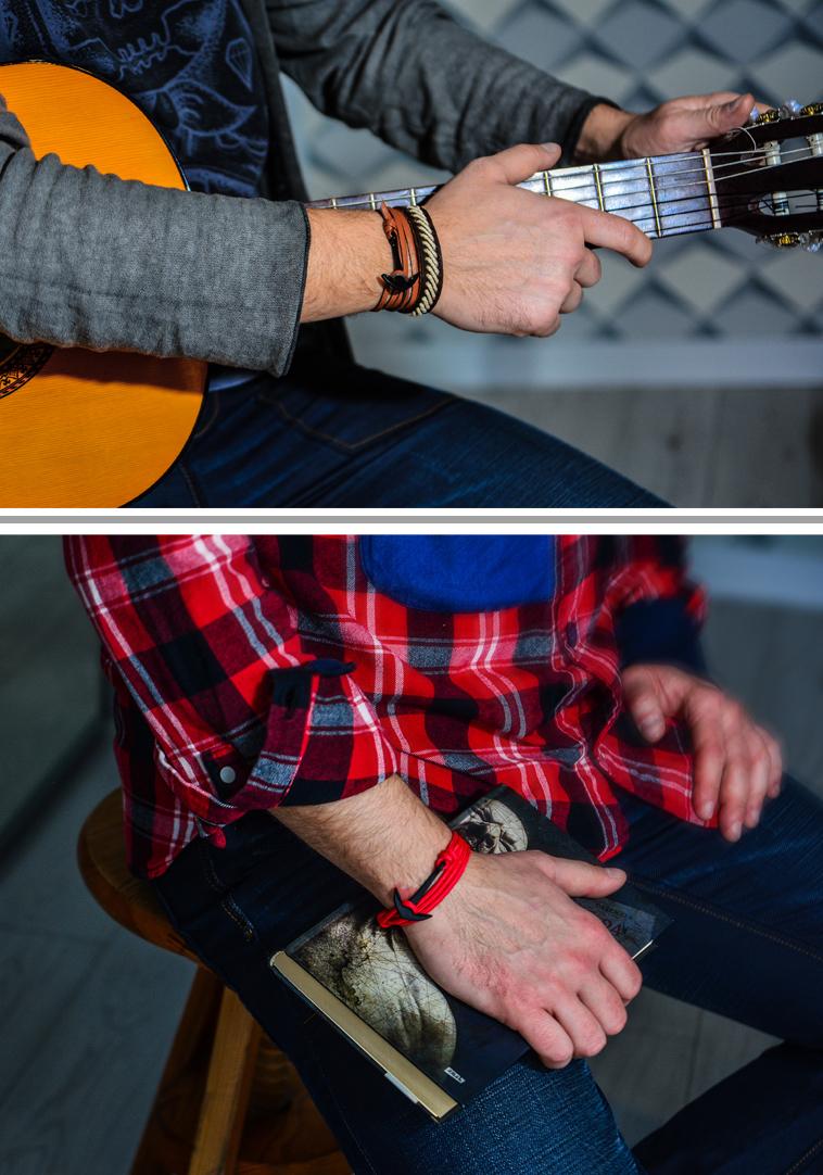 zdjęcia bransoletek na ręce modela