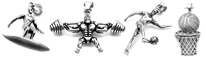 biżuteria sportowa dla mężczyzny zawieszki