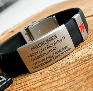 bransoletka z medycznym grawerem