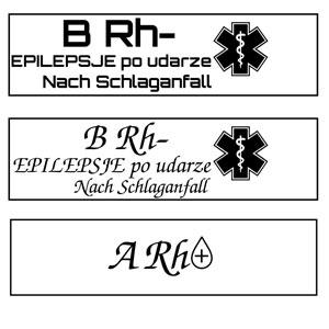 Wizualziacja dla epileptyka na medycznej biżuterii