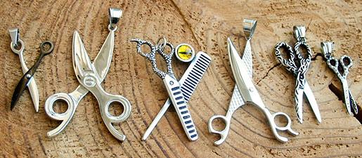 nożyczki marki zubiro zawieszki na prezent dla fryzjera
