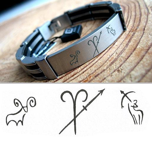Bransoletka z Twoim grawerem Znakami Zodiaku