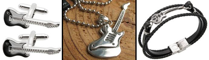 Biżuteria dla muzyka bransoletki zawieszki i spinki