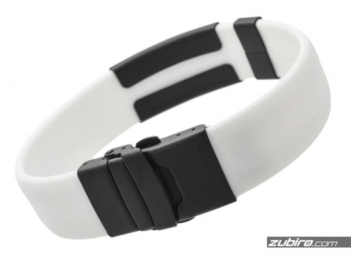 Biała czarna bransoletka medyczna