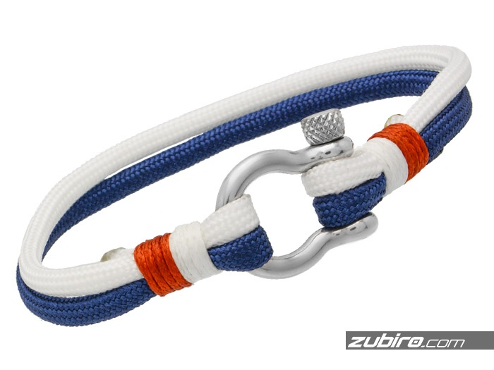 Biało-niebieska bransoletka żeglarska