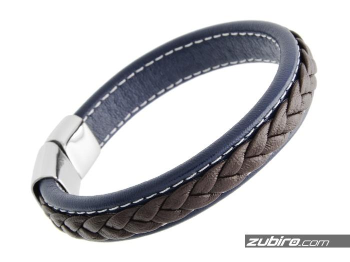 brązowo niebieska bransoleta dla mężczyzny