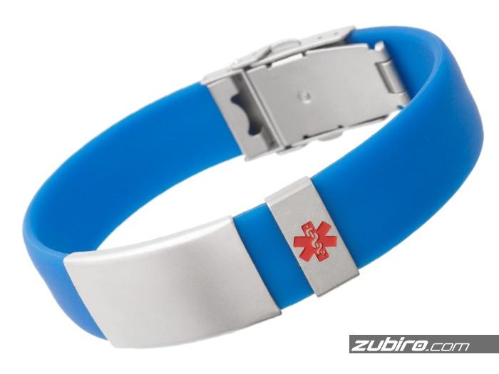 Bransoletka medyczna niebieska