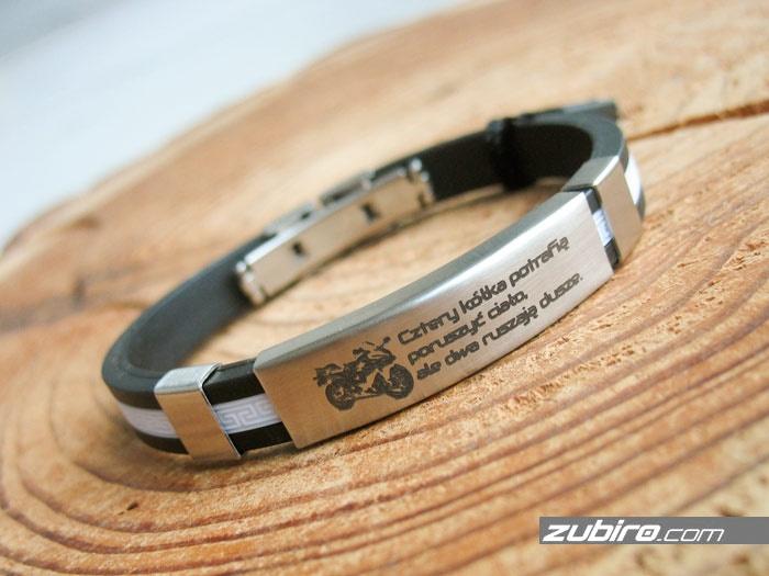 bransoletka dla mężczyzny z grawerem