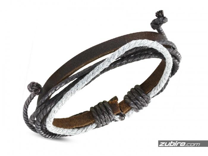 Bransoletka męska ze sznurków
