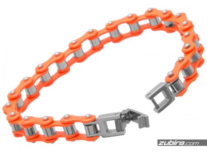 neonowy pomarańcz bransoletka dla rowerzysty