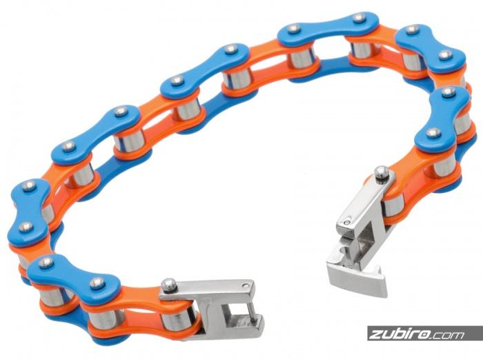 kolorowe stalowe męskie bransoletki łańcuchowe