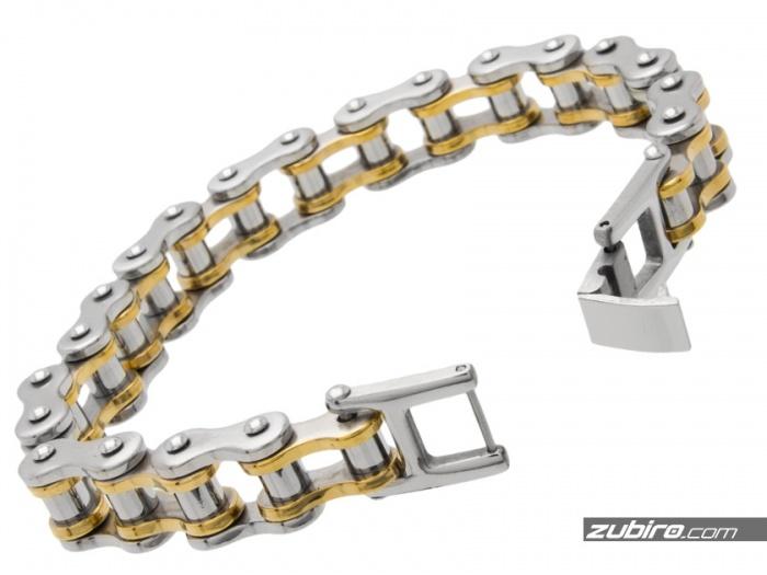 prezent dla rowerzysty bransoletka łańcuchowa