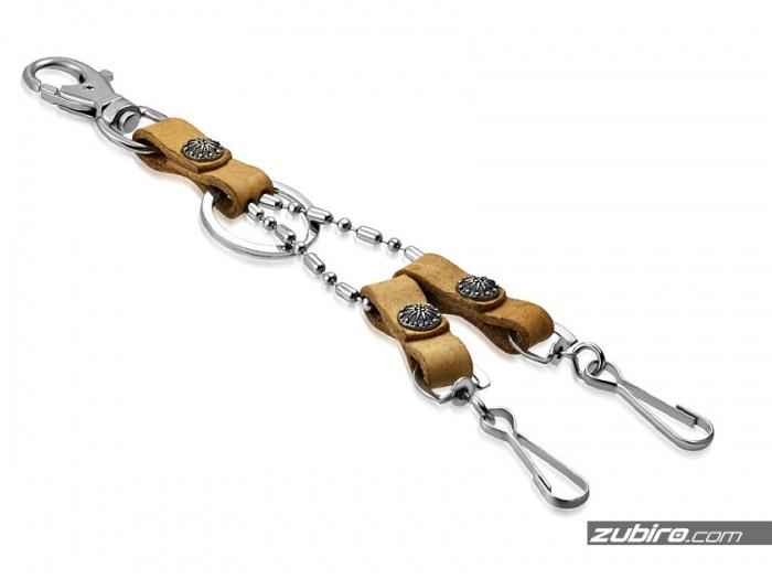 Brelok skórzany do kluczy i ozdoby