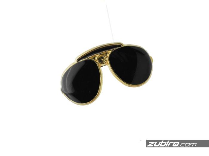 Broszka męska okulary przeciwsłoneczne