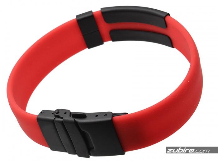 czerwona bransoletka zapięcie czarne