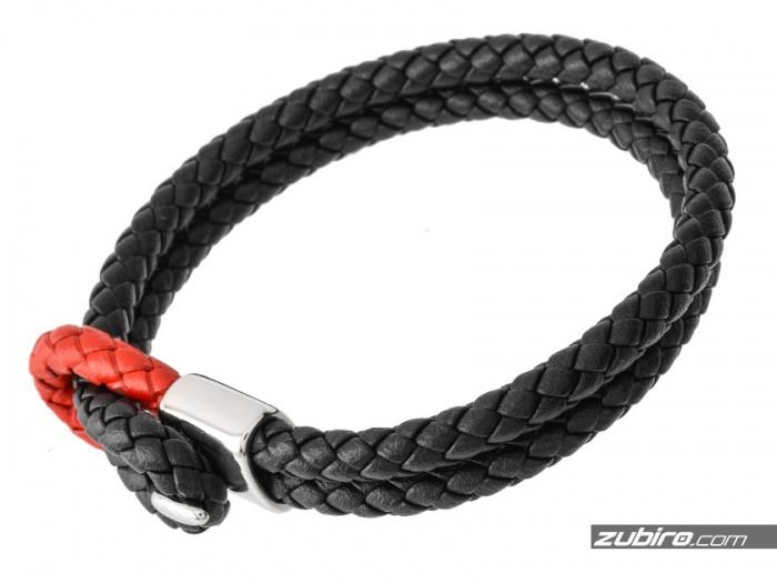Czerwono-czarna bransoletka
