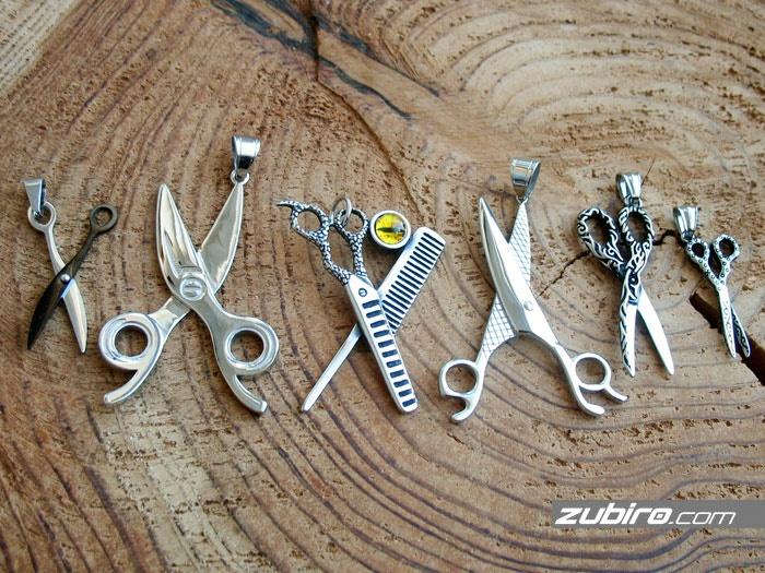 porównanie wielkości zawieszek nożyczek