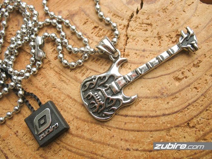 muzyczna biżuteria męska gitara elektryczna
