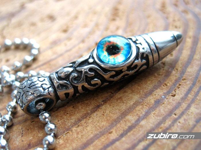 Kieł stalowy oko niebieskie