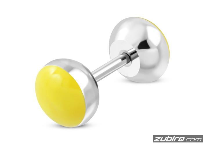 kolczyki dla faceta żółte