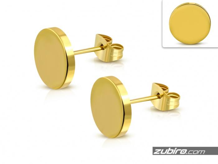 Kolczyki złote okrągłe