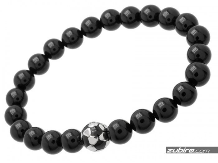 koraliki czarne połysk dla piłkarza