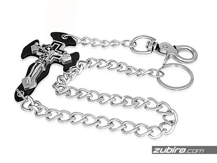 Łańcuch Brelok z krzyżem do kluczy