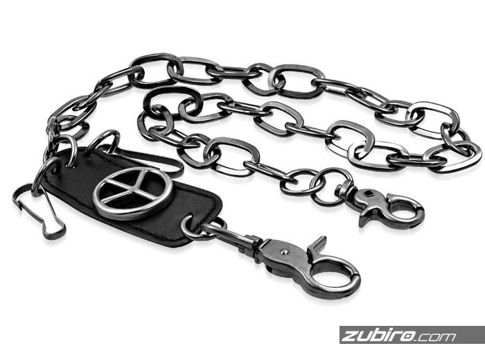 Łańcuch metalowy z pacyfką do spodni