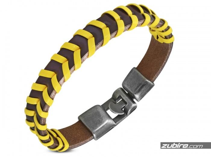 Młodzieżowa  żółta bransoletka dla chłopaka