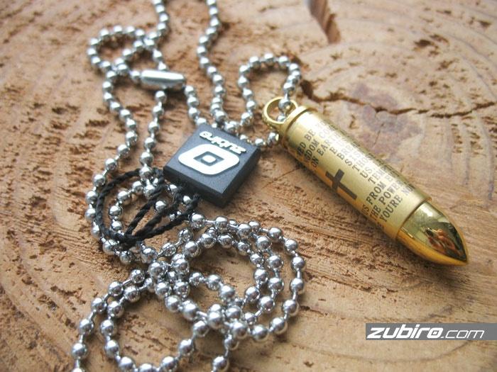 Nabój złoty skrytka z modlitwą