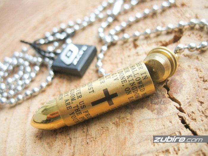 nabój złoty z modlitwą