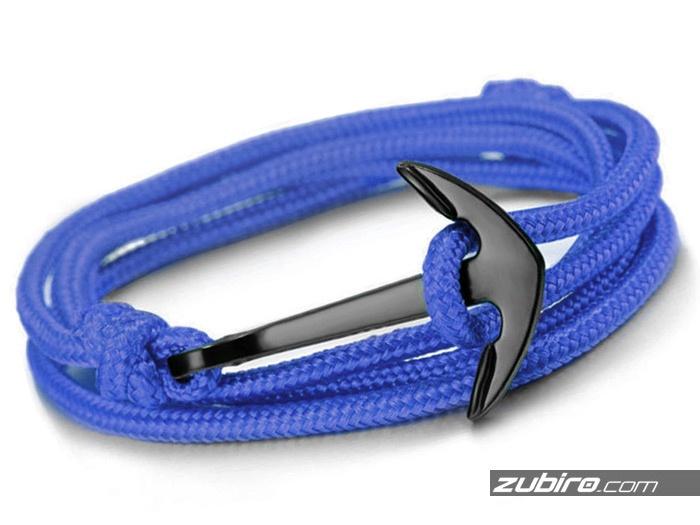 Niebieska bransoletka z kotwicą