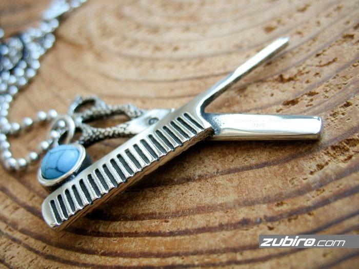 nożyczki i grzebień zawieszka