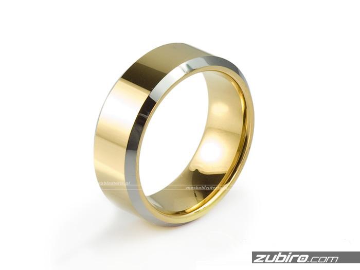 Obrączki wolframowe złote