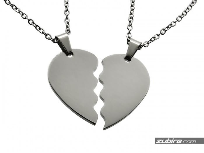 Połówki serca na prezent pod grawer dla pary walentynki
